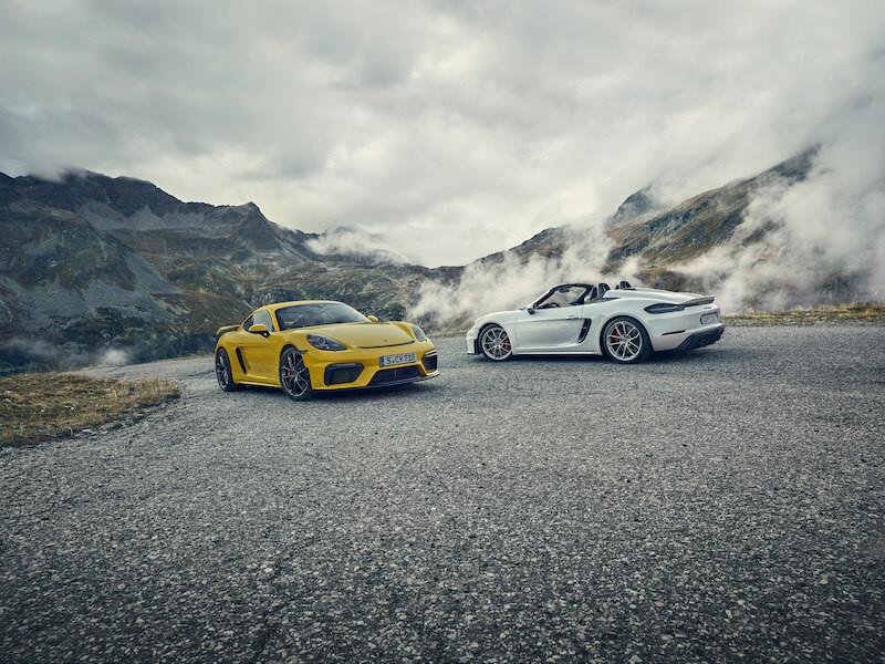 Le nuove 718 Spyder e 718 Cayman GT4
